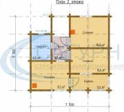 Проект Ривьера - План 2 этажа